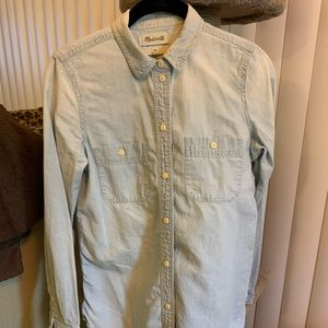 Madewell button down denim shirt